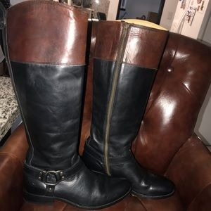 Frye Melissa Leather Tall Boots